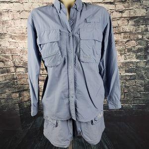 Cabelas Guidewear Shirt (M) and Shorts (L) Set